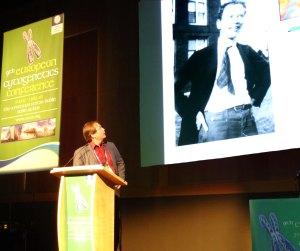 Evan Eichler shows Sturtevant at ECA2013 Dublin