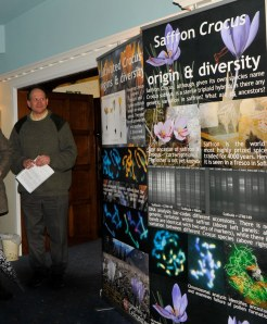 A display about Saffron diversity from the Crocusbank Project