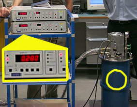 The cryostat/refrigerator/cooler for the optical STJ operating at 280mK in Leicester