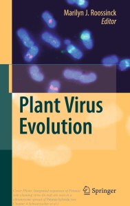 "Plant Pararetrovirus insertions on chromosomes seen on the cover of ""Plant Virus Evolution"" book"
