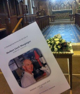 Topsham Church and Professor Herbert Macgregor's Memorial Service