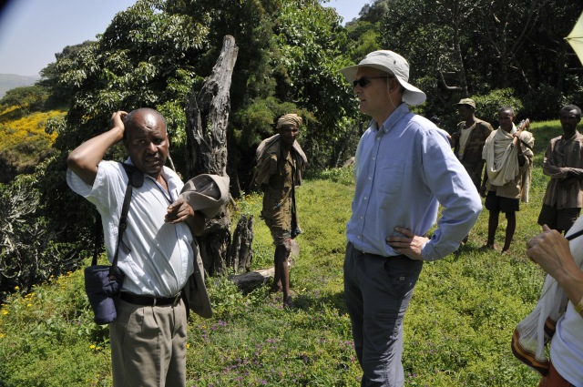 Mark Goodwin with Worku Mhiret in the field in Ethiopia